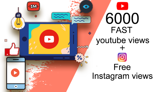 6000+ Fast Youtube Viewership(6000 Free Instagram views)   YTVIEWS.IN